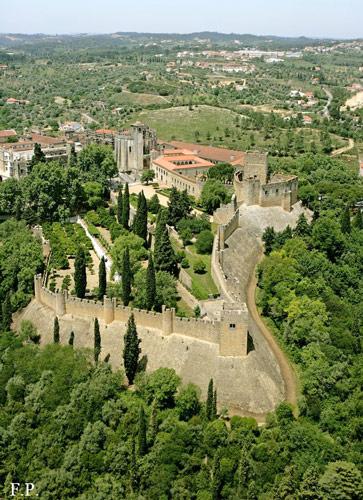 Vista aérea do Castelo de Tomar
