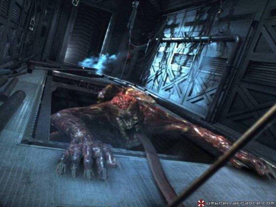 Um dos monstros do filme Resident Evil: O Hóspede Maldito