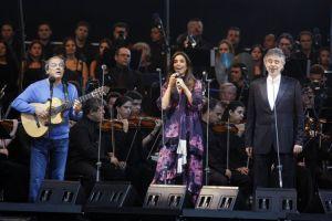 Toquinho, Ivete Sangalo e Andrea Bocelli