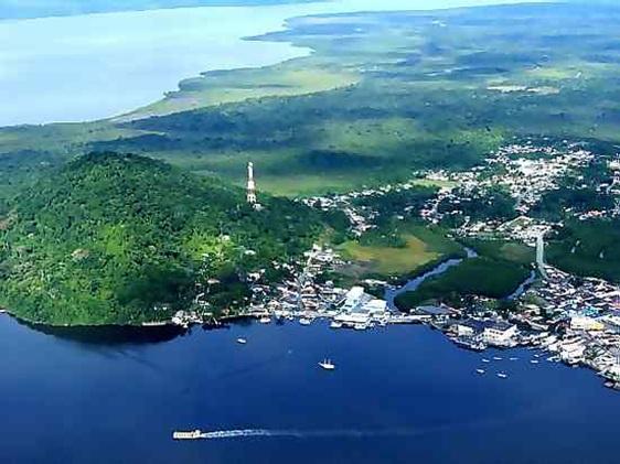 Vista aérea de Cananéia.