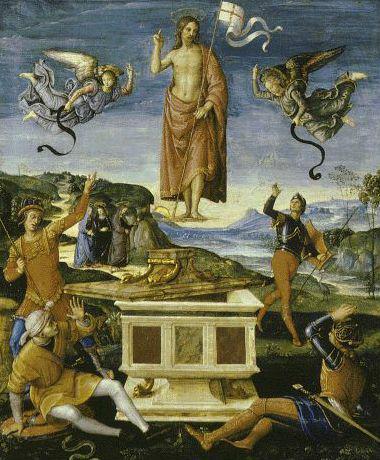 Ressurreição de Cristo, de Rafael Sanzio (c. 1500).