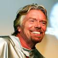 """Richard Branson, o """"alien"""" que assustou os londrinos."""