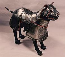 Armadura para cachorro do século XVII, Instituo Ricardo Brennand.
