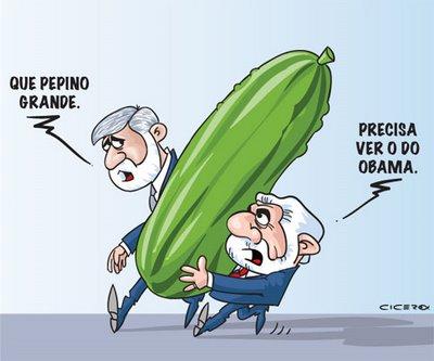Lula carregando o seu pepino