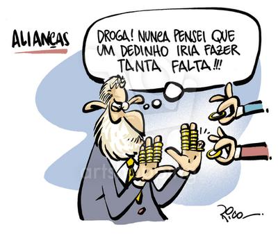 Lula sentindo falta do dedinho