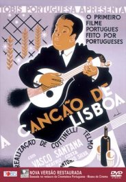 Cartaz do filme A Canção de Lisboa, feito por Almada Negreiros.