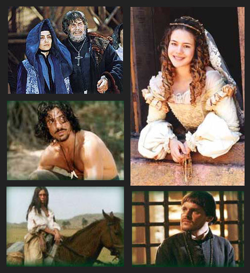 Alguns dos personagens de A Muralha.