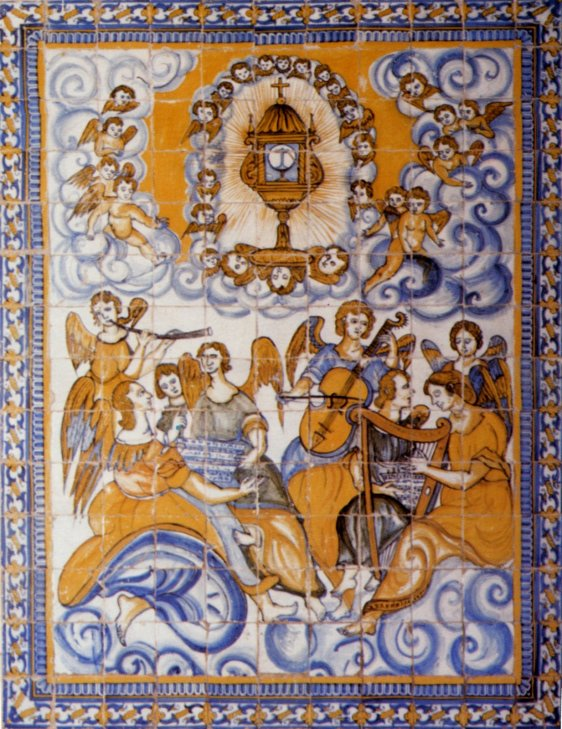 Painel figurativo, com motivo religioso, datado entre 1630 e 1650, da Igreja da Assunção da Atalaia, Vila Nova da Barquinha, Santarém.