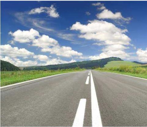 Paisagem típica das rodovias portuguesas.