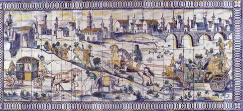 """Exemplo de uma Macacaria, """"o casamento da galinha"""", existente no Palácio Fronteira, Lisboa."""