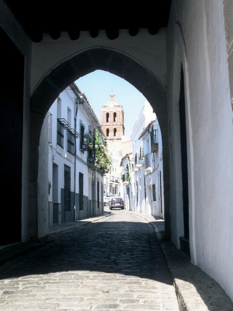 Vista da calle Jerez, em Zafra.