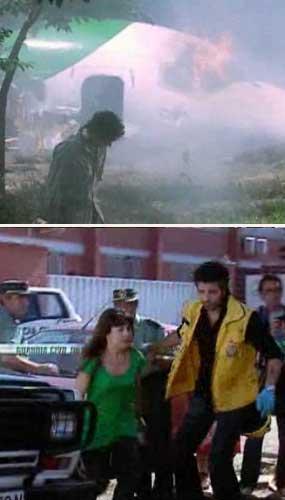 Imagens do episódio do acidente aéreo